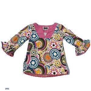 Mud Pie Floral Corduroy Dress Baby Girls 12-18 M